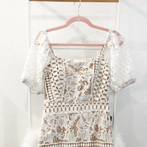 Champagne & Ivory Milkmaid Dress